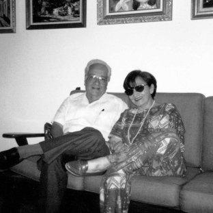José león Tapia con su esposa Carmen Dolores. Álbum de la familia Tapia González.