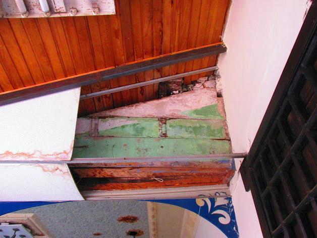 Vista del techo de la Casa de la Cultura Juan Félix Sánchez. Foto Franck Gavidia.