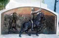 Restauración del relieve de la batalla de Mosquitero. Foto José Ignacio Vielma. Digitalización Samuel L. Hurtado Camargo