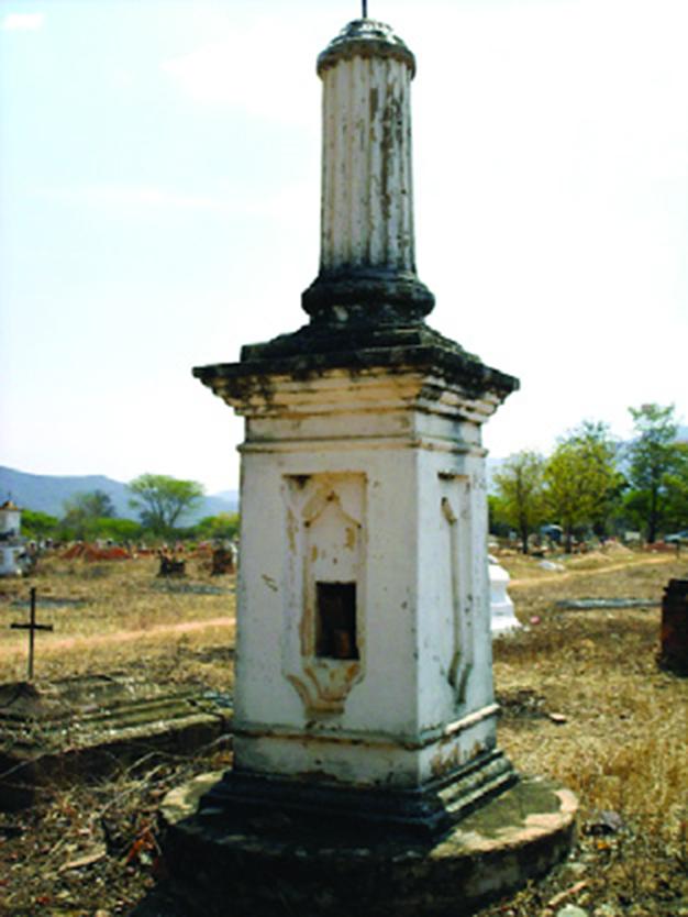 Tumbas antiguas del cementerio de Curarigua