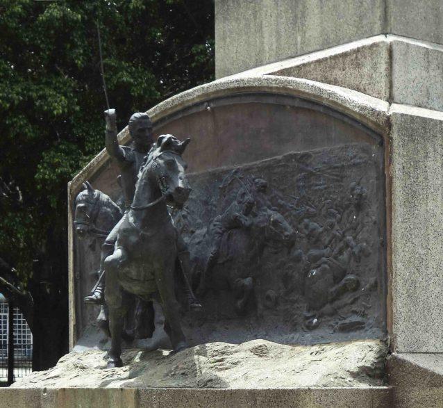 Vista del lateral izquierdo del relieve de la batalla de Mosquitero, mayo 2017. Foto Samuel Hurtado Camargo