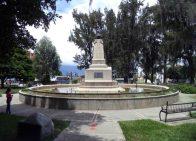 Vista posterior y del lateral izquierdo del relieve de la batalla de Mosquitero, mayo 2017. Foto Samuel Hurtado Camargo