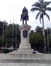 Cara posterior del monumento a Bolívar. Foto Samuel Hurtado Camargo, 28 de mayo de 2017