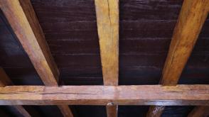 Vigas en madera del techo del actual restaurante Foto: José Luis Rosales.