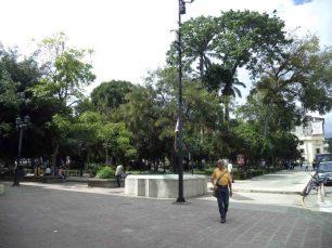Esquina sur de la plaza Bolívar. Patrimonio histórico de Mérida, Venezuela.