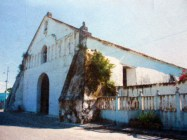 Vista frontal lateral izq. de la iglesia San Nicolás de Bari, municipio Obispos del estado Barinas, Venezuela.