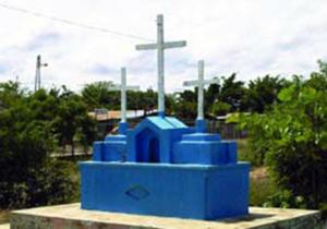 Las Tres Cruces, en la calle Sucre, de Baragua. Foto IPC.