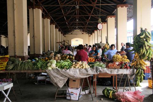 Mercado de Capacho, un bullente punto de comercio de productos locales. Trujillo, Venezuela