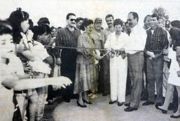 Acto de inauguración del parque Los Mangos.