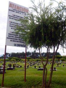 Normativa del cementerio Parque Jardín Nuestra Señora del Rosario del Real, Barinas. Venezuela.