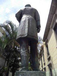 Estatua del Rector Heroico. Patrimonio cultural de Mérida, Venezuela.