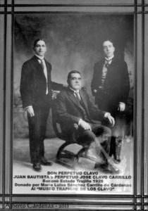 Don Perpetuo Clavo y sus hijos dueños del trapiche que luego se convertiría en museo. Patrimonio cultural de Boconó, estado Trujillo. Venezuela.