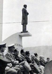 Inauguración del monumento al Rector Heroico, 29 de marzo de 1963. Mérida, Venezuela.