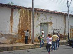 Inspección de la casa Tapier por el IPC. Centro histórico de Barinas. Venezuela.