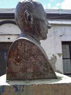 Lateral derecho del busto de Rafael Lasso de la Vega. Foto Samuel Hurtado Camargo, mayo de 2017