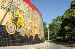 Mural de Pedro León Zapata en la UCV. Patrimonio mundial de Venezuela. UNESCO