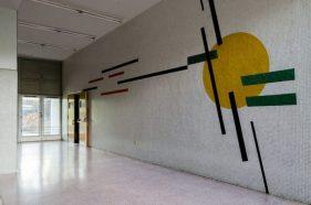 Murales Mateo Manaure Ingeniería de la UCV. Patrimonio mundial de Venezuela. UNESCO.