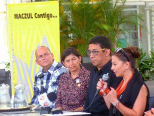 Autoridades del MACZUL en sus declaraciones a la prensa tras la última arremetida del hampa. Foto Prensa MACZUL, julio 2017.