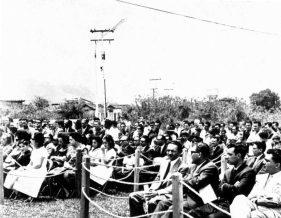 Parte del público presente en la inauguración de la estatua del Rector Heroico, en Mérida. Patrimonio cultural en riesgo de Venezuela.