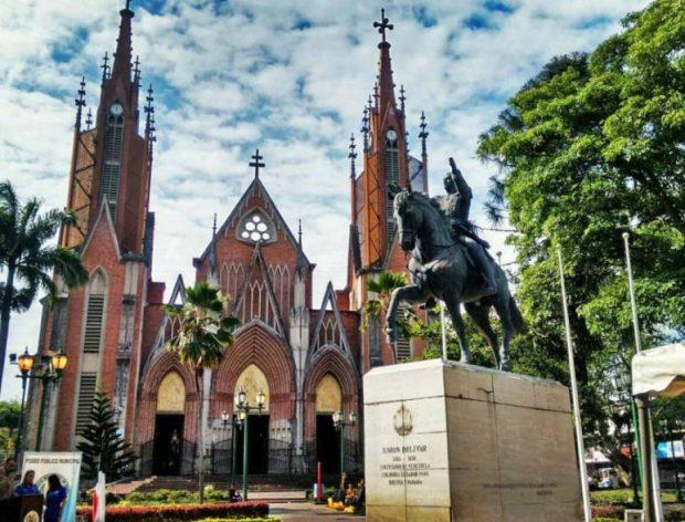 Plaza Bolívar de Rubio, capital del municipio Junín del estado Táchira.
