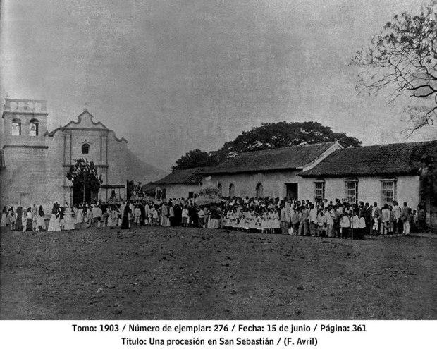Procesion_San_Sebastián de los reyes en 1903. Aragua, patrimonio cultural venezolano.
