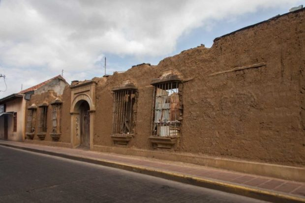 Casa en el casco histórico de Coro. Patrimonio Mundial en Peligro. Unesco. Falcón Venezuela.