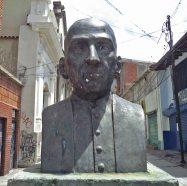 Vista frontal del busto de Rafael Lasso de la Vega. Foto Samuel Hurtado Camargo, mayo de 2017