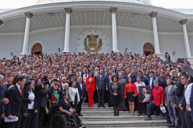 Al Palacio Federal entraron más de 500 personas en la instalación de la ANC. Monumento histórico nacional de Venezuela en peligro.