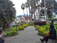 Caminerías internas ubicadas en costado noreste de la plaza Las Heroínas. Foto Samuel Hurtado Camargo, 28 de mayo de 2017.