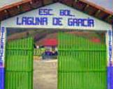 Portón de entrada de la Escuela Bolivariana Laguna García. Patrimonio cultural de Táchira, Venezuela.
