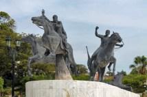 Grupo escultórico del parque Rafael Urdaneta, en el casco histórico de Maracaibo.