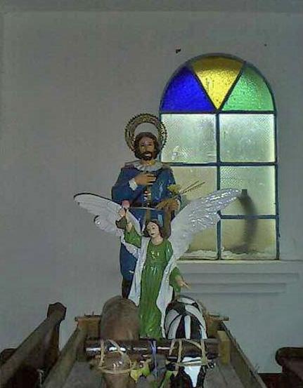 Imagen de San Vicente Ferrer en la iglesia homónima de Junín, Táchira. Rubio, estado Táchira.