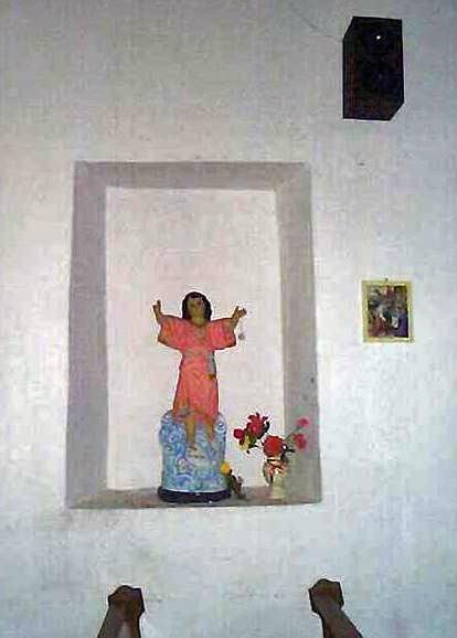 Imagen del Divino Niño en la iglesia San Vicente Ferrer, Rubio, estado Táchira.
