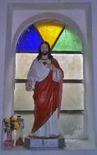 Imagen del Corazón de Jesús en la iglesia San Vicente Ferrer.Patrimonio cultural de la ciudad de Rubio, estado Táchira. Venezuela.
