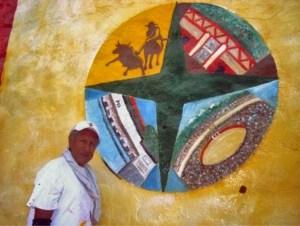 Enrique Kike Torres, autor de los murales de la Monumental de Mérida. Plaza de toros Román Eduardo Sandia Briceño, patrimonio arquitectónico de la ciudad de Mérida, Venezuela.