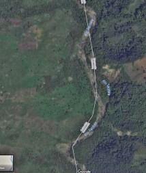 Río Táchira, en la frontera de Colombia y Venezuela. Google Maps. Contrabando del bronce desvalija el patrimonio cultural de Venezuela.