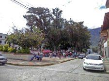 Zona norte de la plaza Rivas Dávila vista desde el costado suroeste. Patrimonio histórico del municipio Mérida, estado Mérida. Venezuela.