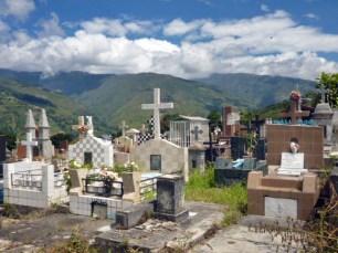 Aspecto general del cementerio donde está la tumba de la familia Clavo. Patrimonio cultural de la ciudad de Boconó, estado Trujillo, Venezuela.