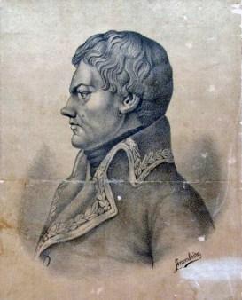 General Francisco de Miranda. Litografía de José Gabriel Arambúru. Colección Museo Bolivariano (Caracas).