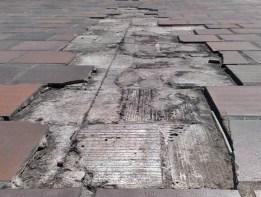 La falta de desagüe inunda la superficie. Patrimonio de Trujillo, venezuela, en riesgo.