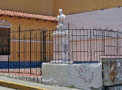 Monumento a Francisco de Miranda. Patrimonio histórico de Mérida, Venezuela.