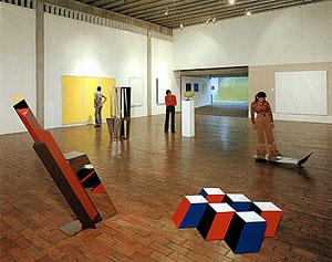 Interior d el Museo de Arte Moderno Jesús Soto. Ciudad Bolívar, estado Bolívar, Venezuela.