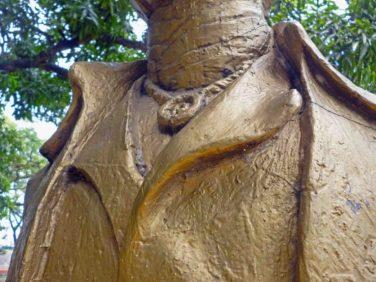 Detalles del busto de Andrés Bello, en el paseo Los Trujillanos, Barinas. Foto Marinela Araque, 25 de septiembre 2017.