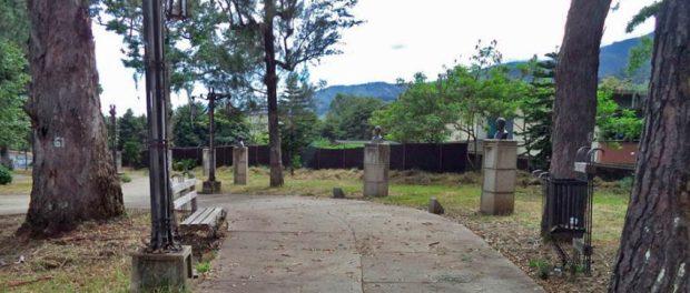 Parque Los Escritores Merideños. Patrimonio cultural de Mérida, Venezuela.