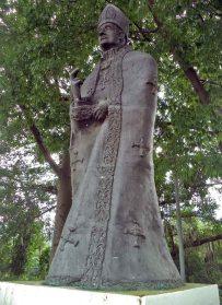 Estatua pedestre del fray Juan Ramos de Lora. Patrimonio cultural de la ciudad de Mérida, estado Mérida. Venezuela.