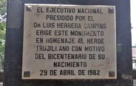 Parque Los Ilustres de Trujillo, patrimonio cultural de Venezuela en riesgo.