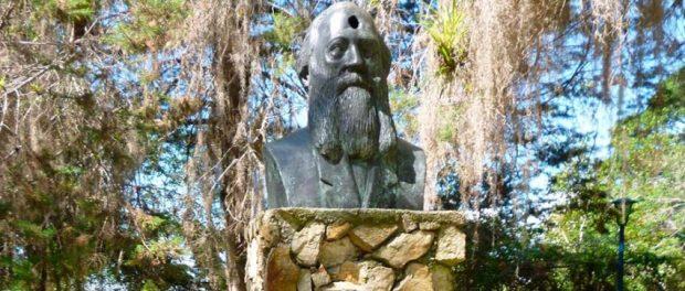 Monumento a José Vicente Nucete. Parque El Rincón de los Poetas. Mérida, Venezuela.