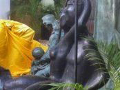 La bacante, el monumento a Montes de Oca y Pandora están resguardadas en el Acuario de Valencia. Estado Carabobo. Patrimonio cultural de Venezuela en peligro.