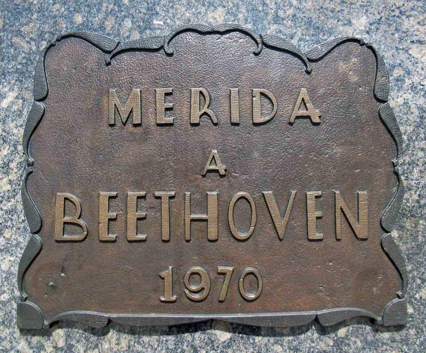 Parque Beethoven, patrimonio cultural de la ciudad de Mérida, Venezuela.