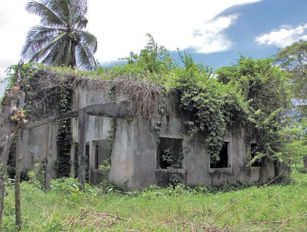 Ruinas del primer ambulatorio de Yumarito. Patrimonio cultural de Yaracuy, Venezuela.